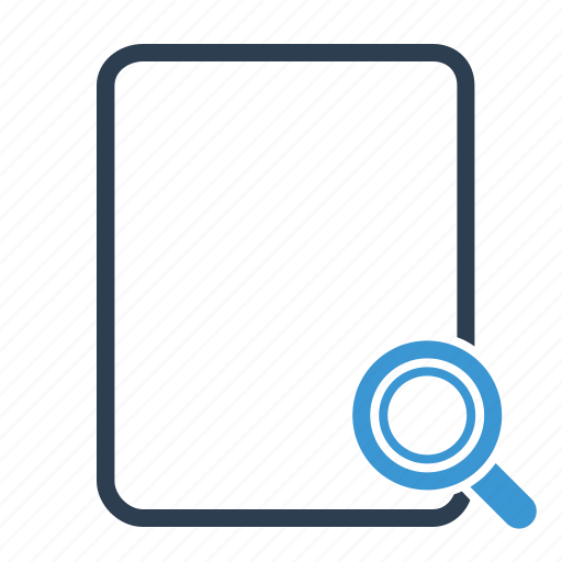 file, magnifier, search icon