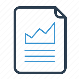 analytics, file, statistics icon
