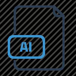 ai, file, vector format icon