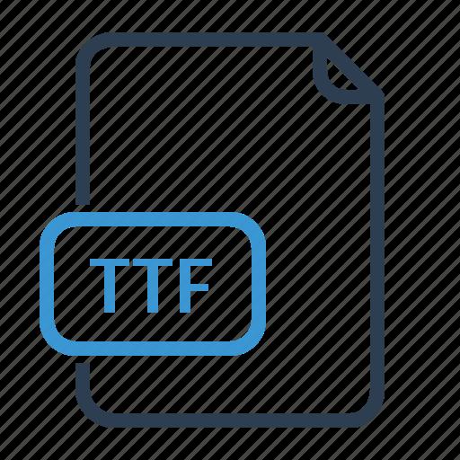 file, ttf icon