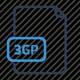 3gp, file, video icon