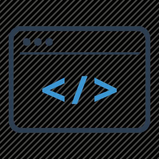 app, browser, code, coding, custom development icon