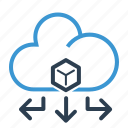 big data, cloud, database, storage icon