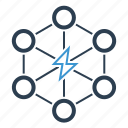 break, conflict, demolition, disruption, energy, light bolt, power icon