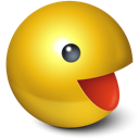 cute, games, pacman, smiley, yellow