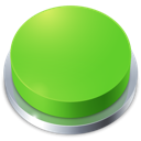 button, go, green, perspective, top icon