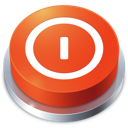 button, perspective, shutdown icon