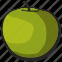 fruit, greenapple, icon, illustration, vector icon