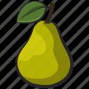 fruit, icon, illustration, pear, vector icon
