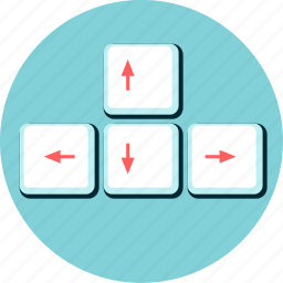 arrow, direction, guidance, keyboard, keys, move, position icon
