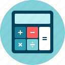 calculator, keyboard, math, measure, numbers, pocket calculator, results icon