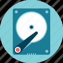 data storage, hard disk drive, hd, winchester icon