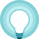 eureka, glow, idea, innovation, light, light bulb, shiny icon