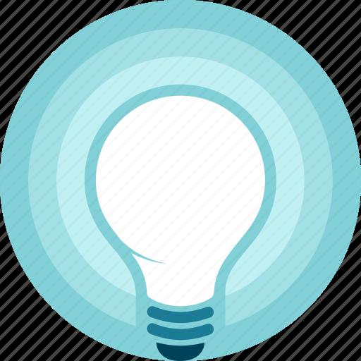 eureka, glow, idea, innovation, light, light bulb, shiny icon