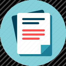 data, document, file, text, txt, write icon