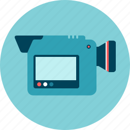 camera, hand camera, movie, portable, video icon