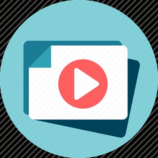 film, movie, video file icon