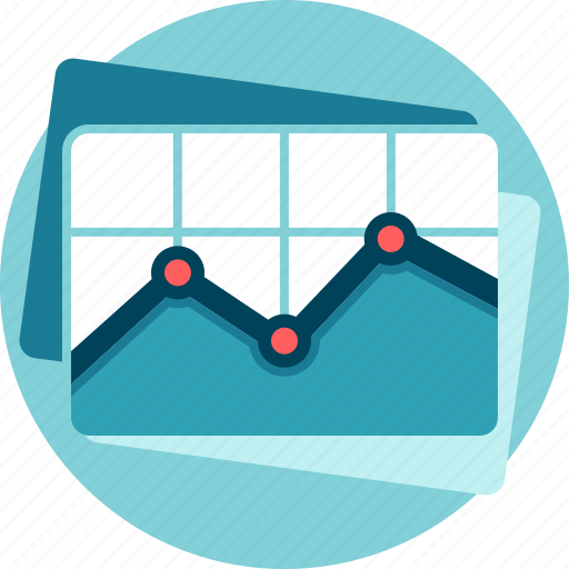 charts, performance, results, statistics, trade icon