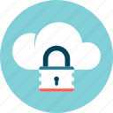 cloud, data security, locked, protection, safe icon