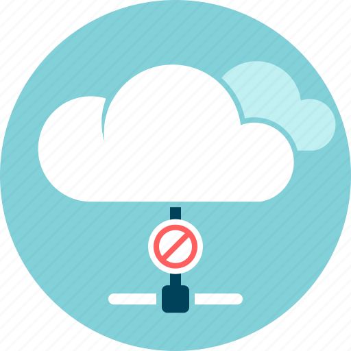 cloud, data, disconnected, offline, problem, storage icon