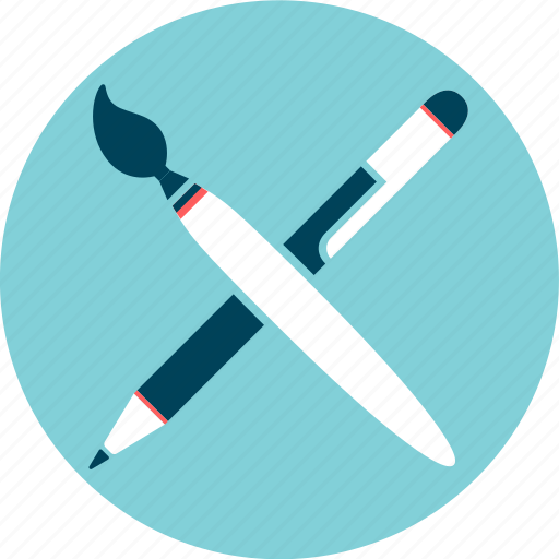 art, brush, design, draw, paint, pencil, sketch icon