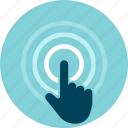 digital, finger, pointing, tap, touch icon