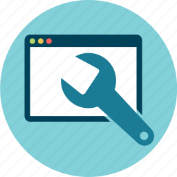 browser, maintenance, software, web-tools icon