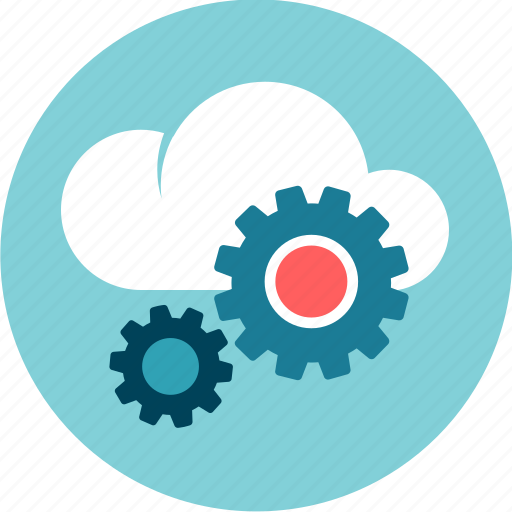 cloud, data, development, gear, system icon