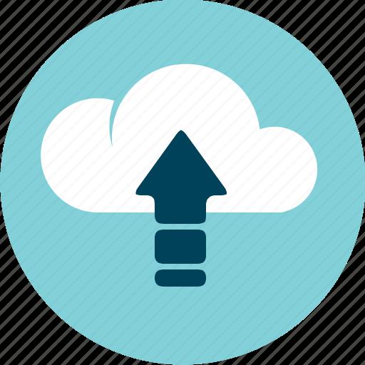 cloud, data, put, send, storage, upload icon