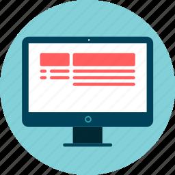 browser, computer, desktop, screen, website icon