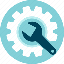 development tool, gear, maintenance icon