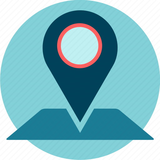 address, current location, map, pin, position icon
