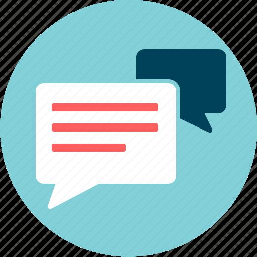 blog, comments, communication, conversation, dialogue, message, sms icon