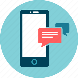 communication, conversation, dialogue, instant message, mobile, sms, texting icon