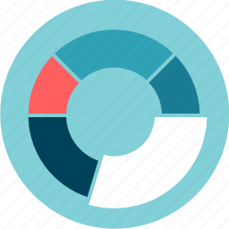 chart, circle, data visualization, graphic, outcome, percentage, pie, results icon
