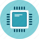 central processing unit, chip, microprocessor, processor icon