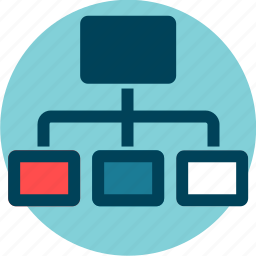 connections, distribution, hierarchy, information architecture, server, structure icon