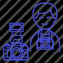 1, camera, dlsr, image, male, photographers, professional, reflex icon