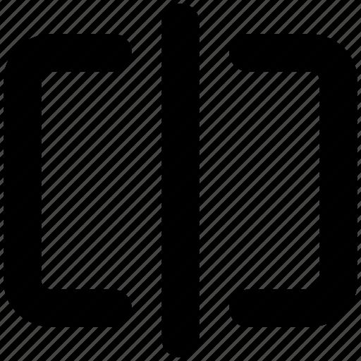 divide, horizontal, icon, image, split, trim icon