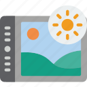 brightness, enhancement, image, image enhancement, image processing icon