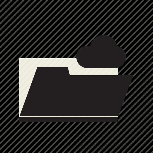 cloud, data, folder icon