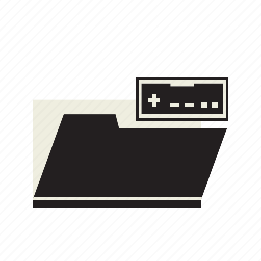 data, folder, games icon