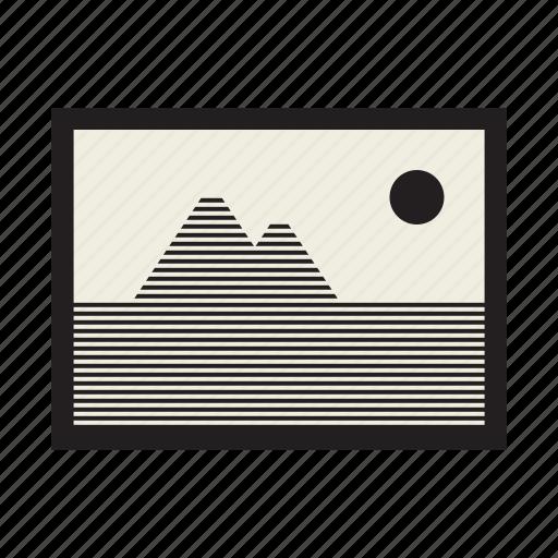 file, image, landscape, picture icon