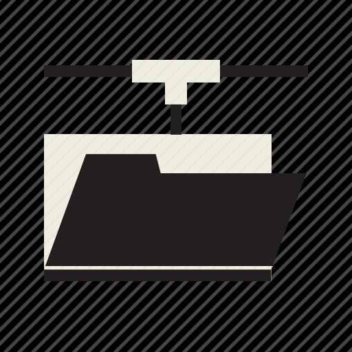 data, folder, network icon