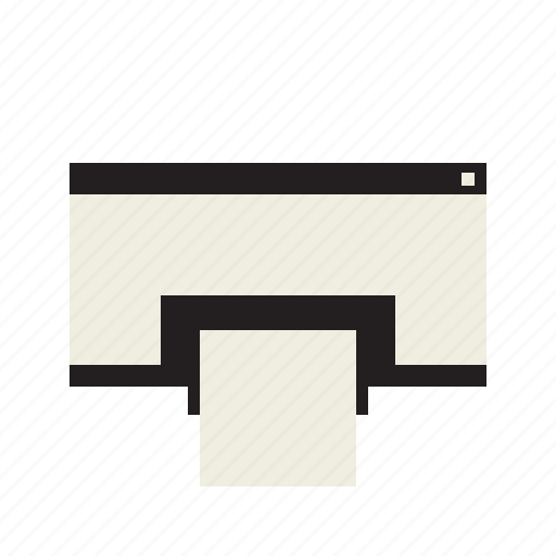 device, paper, printer icon