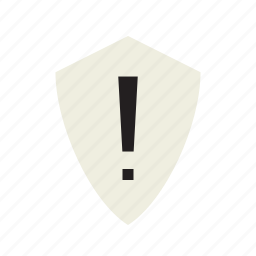 alert, exclamation, shield, warning icon