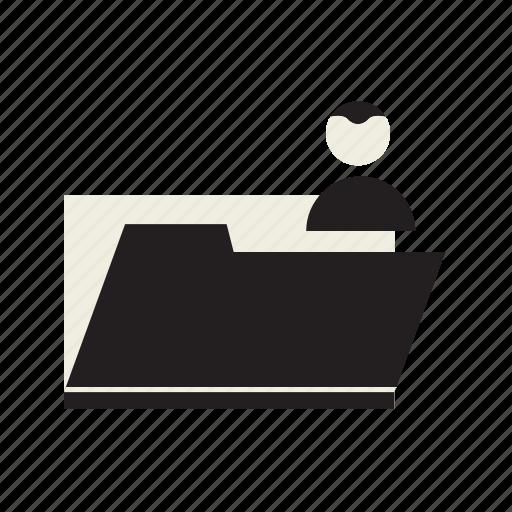 folder, person, users icon