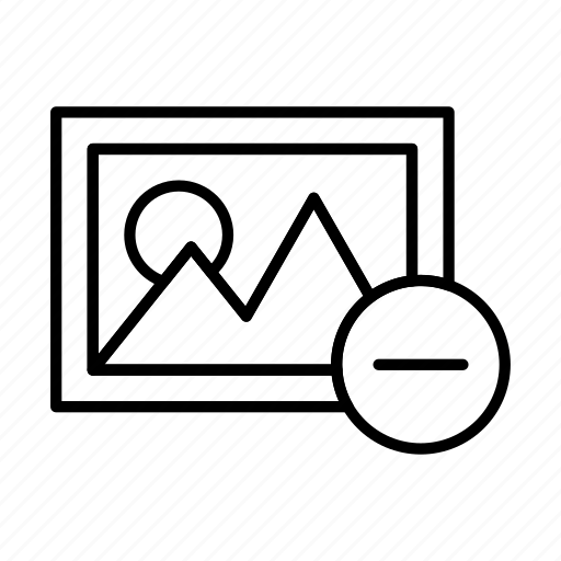 camera, image, photo, photography, picture, remove icon