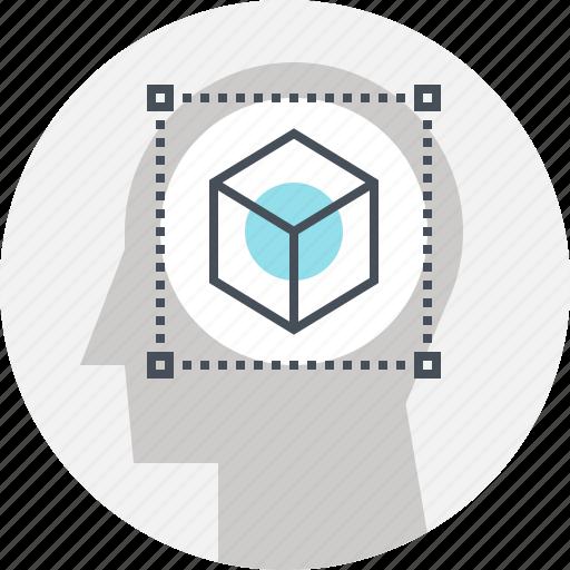 design, development, head, human, mind, modeling, thinking icon