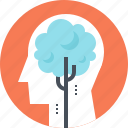 growth, head, human, mind, plant, thinking, tree icon